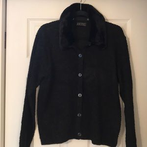 Vintage Elite Sport faux fur collar sweater!